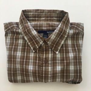 Basic Editions Plaid Long Sleeve Shirt